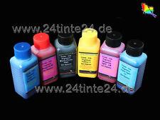 6 x 100ml 600ml PIGMENTO INCHIOSTRO REFILL INK COLOR ad esempio per 1400 1500w r265 r285 p50