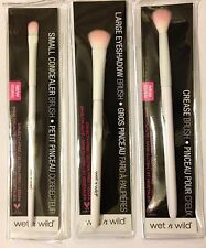 Crease Brush Eyeshadow Small Concealer Wet n Wild Makeup Brushes Lot of 3