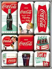 Coca Cola Diner set of 9 mini fridge magnets    (na)