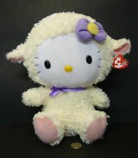 "12"" BIG BABY TY HELLO KITTY AS EASTER LAMB SHEEP STUFFED ANIMAL PLUSH TOY W TAG"