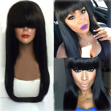 Fashion Womens Girls Straight Glueless Full Cap Front Wig Straight Long Wigs