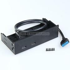 20 Pin PCI-E Express Card MotherBoard to 2 Port USB 3.0 Hub Front Panel for 5.25