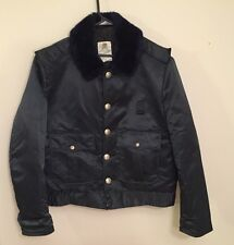 Vintage Horace Small Tuffy Jac Police Patrol Jacket Navy Blue Fur 42R