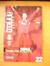 04/03/2006 Liverpool v Charlton Athletic  (Folded & Worn On Spine). No obvious f