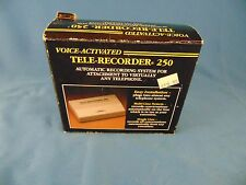 Tele recorder TT Systems model 250 automatic recording system attach to phone
