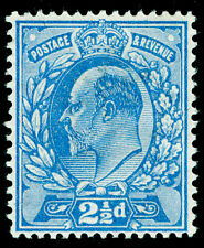 Sg284 SPEC M18(-), 2½d TRUE blue, UNMOUNTED MINT. Cat UNLISTED HENDON CERT. (RC)