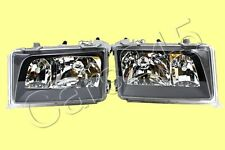 HeadLights Front Lamps Crystal Black PAIR MERCEDES W124 Facelift 93-96