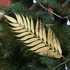 New Luxury Christmas Gold Leaf Leaves XMAS Tree Branch Ornament Party Home Decor