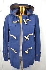 GLOVERALL Damen Jacke Sommer Dufflecoat Blau Kapuze Baumwolle Gr.36