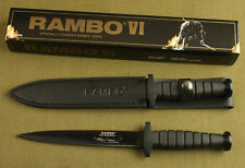 "12""  Rambo VI 5.5mm Boot Dagger double blade rubber Survival Hunting Knife"