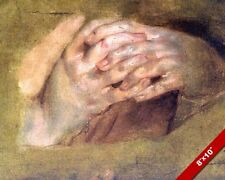 PRAYING HANDS 1600'S PAINTING CHRISTIAN BIBLE HISTORY ART REAL CANVAS PRINT