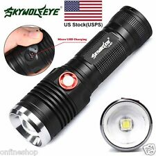 8000LM ZOOM CREE XM-L2 U2 LED 3 Mode 18650 USB Rechargeable Flashlight Torc