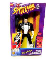 """Vintage Spiderman Marvel Comics Dibujos Animados 10"""" Punisher Figura de juguete, por Toybiz, Raro"""