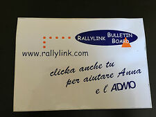 AUTOCOLLANT RALLYLINK BULLETIN BOARD MOTORSPORT ITALIA GOODIES PUB