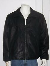NEW MEN'S LEVI'S BLACK LEATHER MOTORCYCLE JACKET LINED VERY NICE SIZE XXLARGE