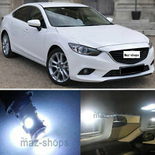 13Pcs Premium Xenon White LED Lights Interior Package Kit for 2013-2015  Mazda 6