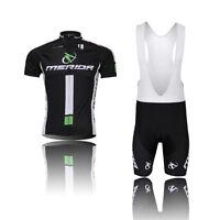 Men Cycling Jersey Bike Team Bicycle Short Sleeve Cycling Jersey Sets+Bib Shorts