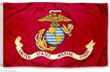 3x5 USMC Marine Corps Marines EGA 2 Sided 2-ply Spun Polyester Flag Gift Package