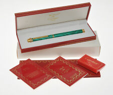 Cartier Vendome green malachite lacquer fountain pen NOS new,  never inked