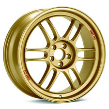 17 ENKEI RPF1 GOLD RIMS 17x8 +45 5x114.3 FITS: MAZDA3 SPEED3 MX-5 CIVIC TSX ILX