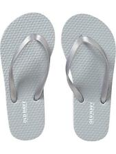 Old Navy Kids' Flip Flop Silver Gray Plain Size 12/13 - foot length 8 3/8 inches