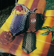 Vintage Pouch Patterns 1980s #FP1 Linda's Family of Macrame Purses