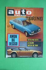AUTO ITALIANA 45/1969 FIAT 124 C ALFA ROMEO JUNIOR Z A 112 INNOCENTI GP MESSICO