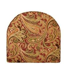 Outdoor U Shape Wicker Chair Seat Cushion 19x19 Box Edge Red Green Paisley