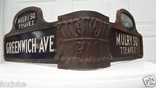 Greenwich Ave & Mulry Square, 7th Ave. South New York City St cast Iron sign