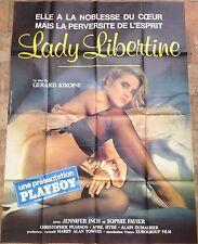 Affiche cinéma originale Lady Libertine format 120 x 160  film érotique
