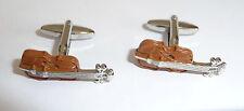 Violin Cufflinks - Supplied In Organza Pouch