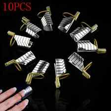 New 10X Reusable UV Gel Acrylic French Tips Nail Art Extension Guide Form Tool