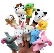 10pcs Cartoon Biological Animal Finger Puppet Plush Toys Child Baby Dolls