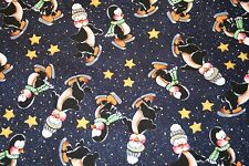 POLAR PALS PENGUINS ICE SKATING CHRISTMAS  HOLIDAY FABRIC NORTHCOTT