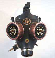 Steampunk Gaz Mask Recycled Rubber Israeli Gas Canister Eyes Perforated Discs