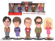 Set di 5 Mini bobble-head Big Bang Theory ufficiale Sheldon by Funko NOT MINT
