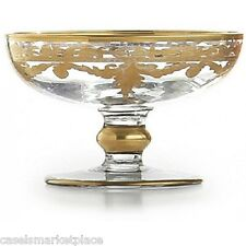 Arte Italica Baroque Gold Etched Glass Candy Compote & Soap Dish Made in Italy