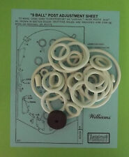 1966 Williams 8 Ball / Eight Ball pinball rubber ring kit