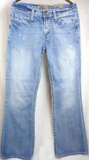 Bke Mens Jeans Size 30 x 33 Fulton The Buckle Distressed Boot Cut Light Wash