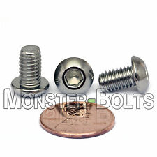 M6 x 10mm - Qty 10 - A2 Stainless Steel BUTTON HEAD Socket Cap Screws - ISO 7380