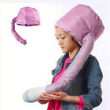Pink Portable Soft Hair Drying Cap Bonnet Haircare Hood Hat Blow Dry Attachment