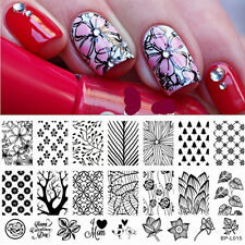 BORN PRETTY Nail Art Stamping Template Forest Trees Pattern Image Plate BP-L015