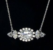 "JUICY COUTURE ""Punk Rocks"" Oval Stationed Rhinestone Pendant Necklace $58"