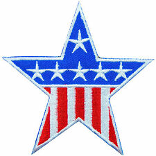 American USA US United State Flag Stars Patriot Captain Iron-On Patches #FL028