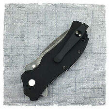 Black Titanium Deep Carry Pocket Clip Made For Zero Tolerance ZT0350 Knife