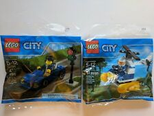 New Lego City Town polybag 30311 Swamp Police Helicopter & 30349 Sports Car