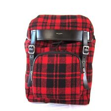J-454497  New Saint Laurent Plaid Flannel Hunting Bag Backpack