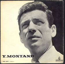 YVES MONTAND La Marie Vison EP 45T 4 titres BIEM / Odéon  MOE 2070 Quasi NEUF