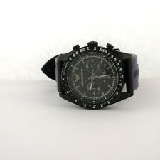 Emporio Armani Chronograph AR6112 Black Silicone Watch Parts Not Working