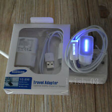 FOR SAMSUNG GALAXY NOTE 2 S2 S4 S5 N7100 LED LIGHT EU WALL CHARGER + USB Cable